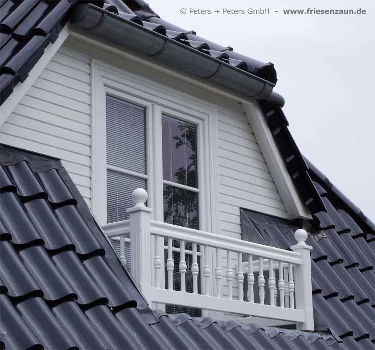 Treppengeländer Holz Gedrechselt ~ Geländer für Balkon, Garten und Terrasse, Hartholz WEISS + RAL mit