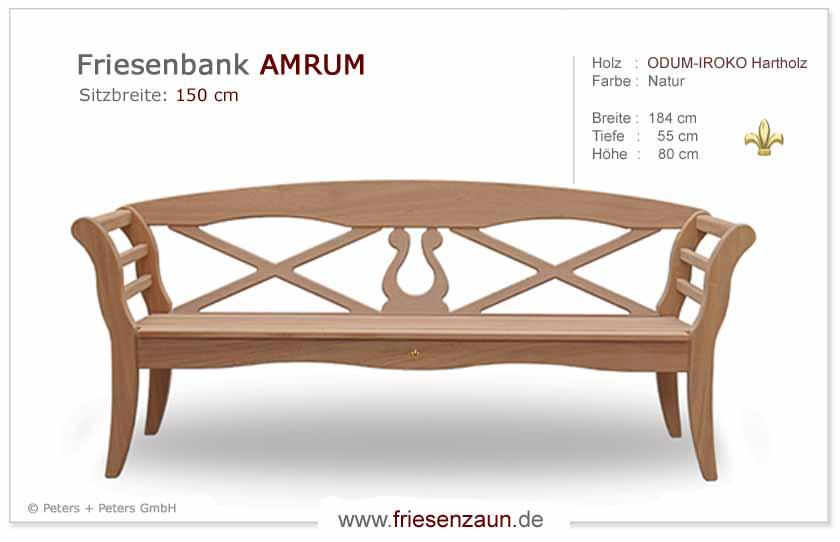 gartenbank holz friesenbank 035612 eine. Black Bedroom Furniture Sets. Home Design Ideas