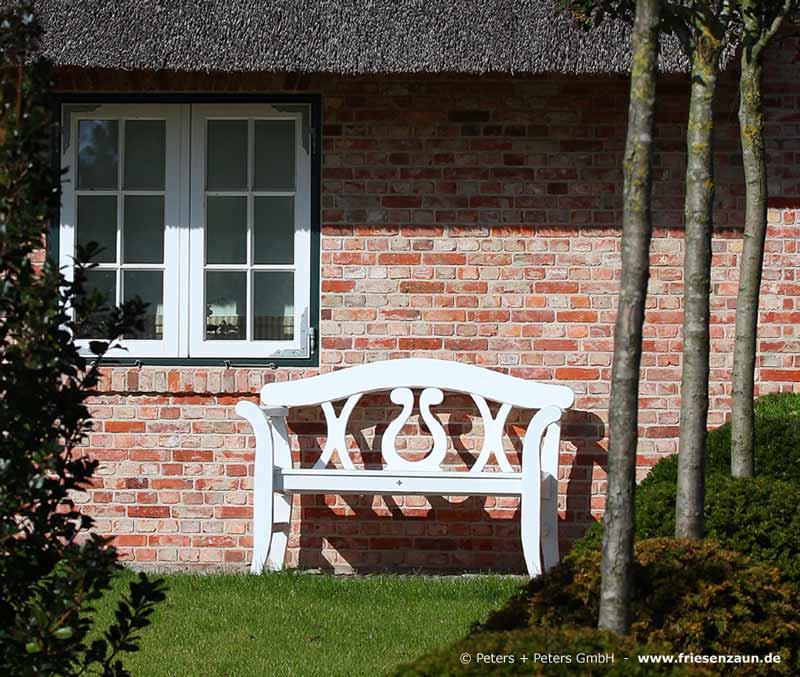 gartenbank holz wei 024005 eine. Black Bedroom Furniture Sets. Home Design Ideas