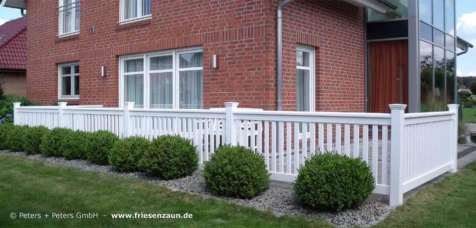 Geländer für Balkon, Garten und Terrasse, Hartholz WEISS ...