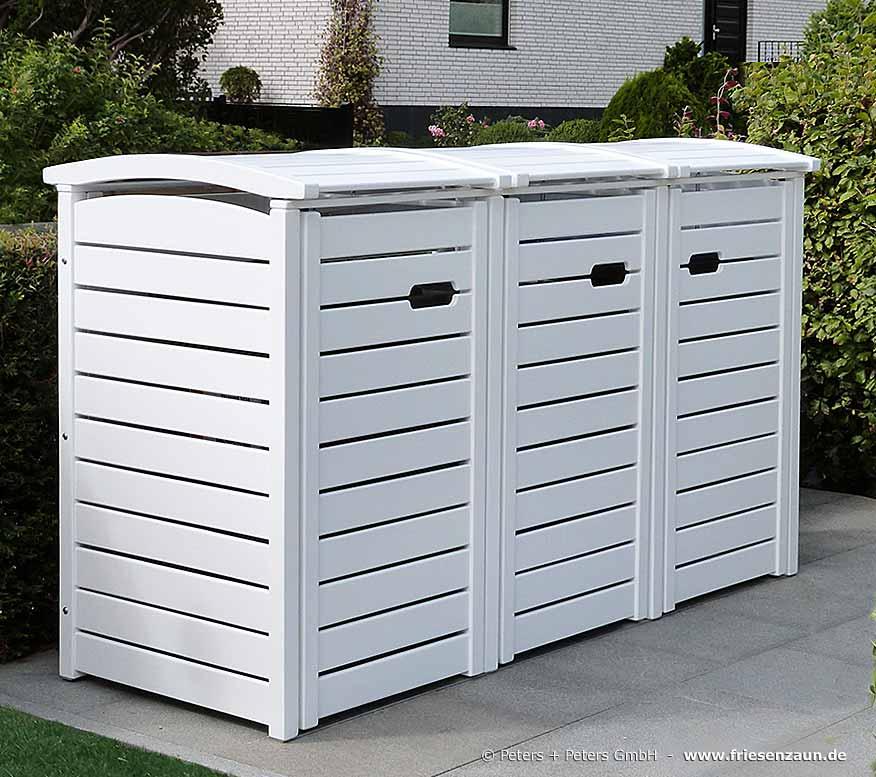 2er 3er m lltonnenbox hartholz 120 240 liter natur. Black Bedroom Furniture Sets. Home Design Ideas