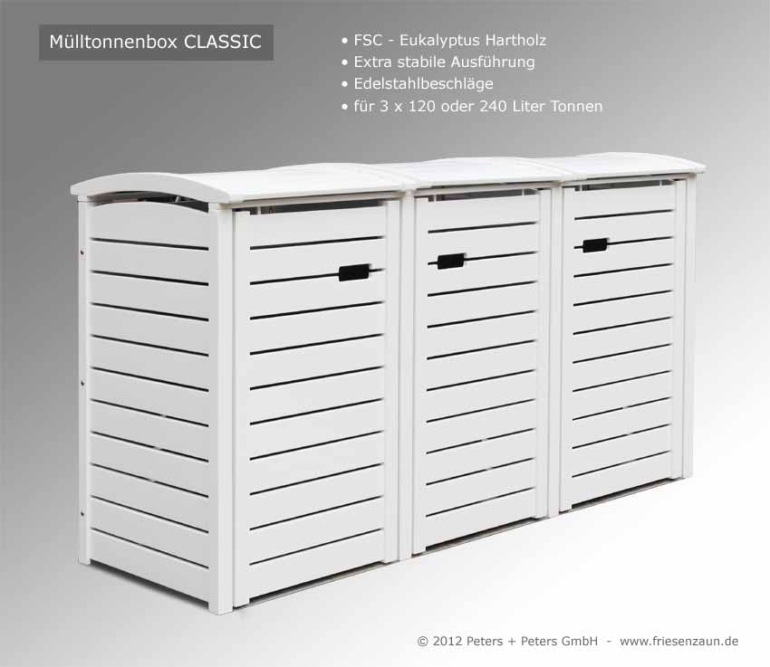 m lltonnenbox hartholz gr n endlackiert 25 jahre garantie m lltonnenbox classic aus fsc. Black Bedroom Furniture Sets. Home Design Ideas