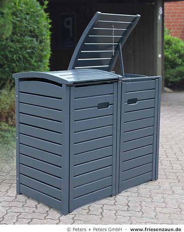 Mulltonnenbox holz fur 3 tonnen - Moderne zimmerturen ...