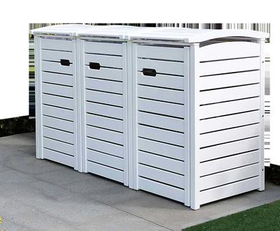 angebot 2er 3er m lltonnenbox hartholz 120 240 liter natur ge lt oder gr n lackiert. Black Bedroom Furniture Sets. Home Design Ideas