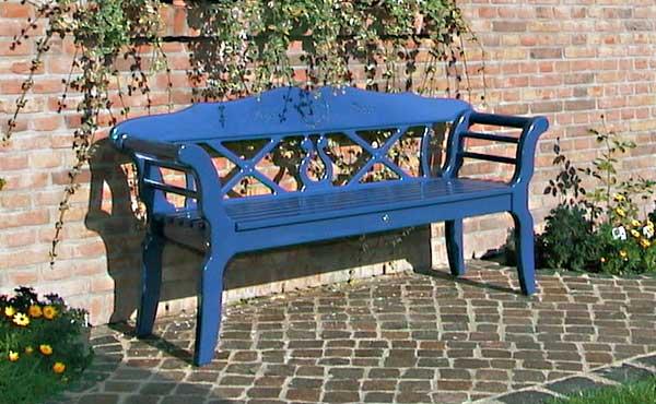 gartenbank kunststoff blau