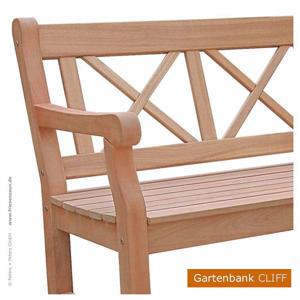 Cheap Er Gartenbank Hartholz Holzbank Cliff Fsc Holz Natur With Gartenbnke  Aus Holz