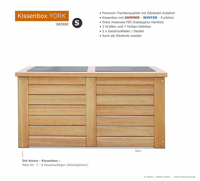 kissenbox holz good lounge gartenmbel holz intelligent u. Black Bedroom Furniture Sets. Home Design Ideas