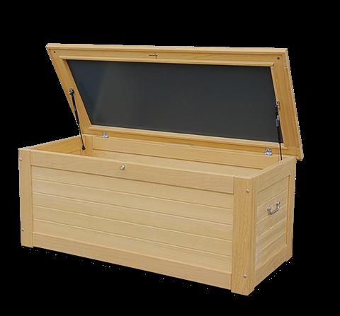 wasserdichte kissentruhe hartholz 25 jahre garantie. Black Bedroom Furniture Sets. Home Design Ideas