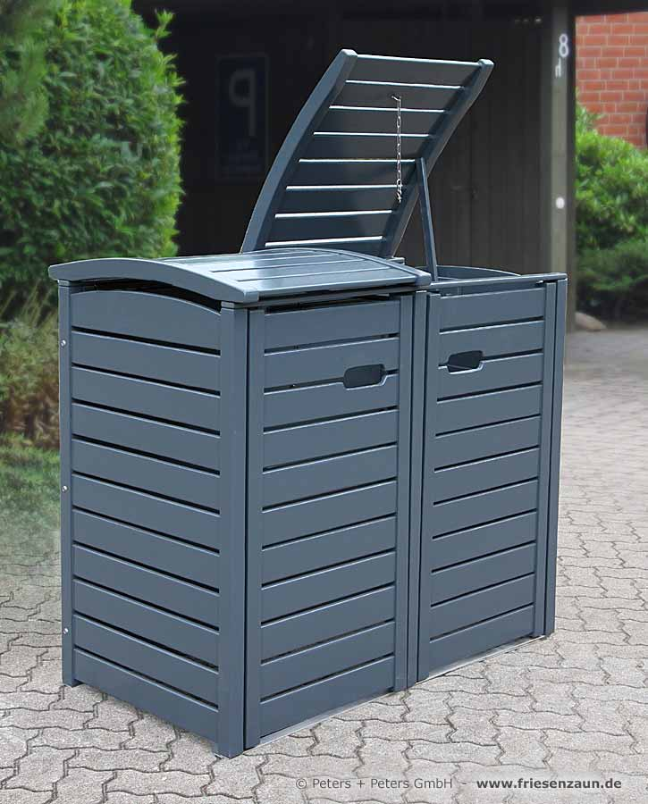 mulltonnenbox holz anthrazit. Black Bedroom Furniture Sets. Home Design Ideas