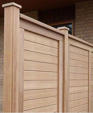 sichtschutz anspruchsvoller sichtschutz f r terrasse und garten hartholz weiss ral 25. Black Bedroom Furniture Sets. Home Design Ideas