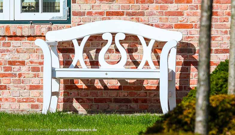 friesenbank sylter gartenbank wei e friesenb nke mit 25 jahren garantie. Black Bedroom Furniture Sets. Home Design Ideas