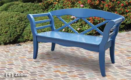 garden bench Sylt - blue or any other color
