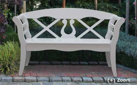 friesian wooden garden bench - nothern styl
