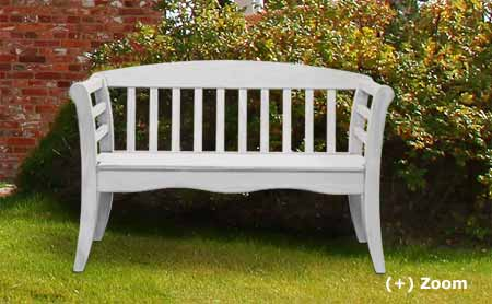 Garden bench hardwood white