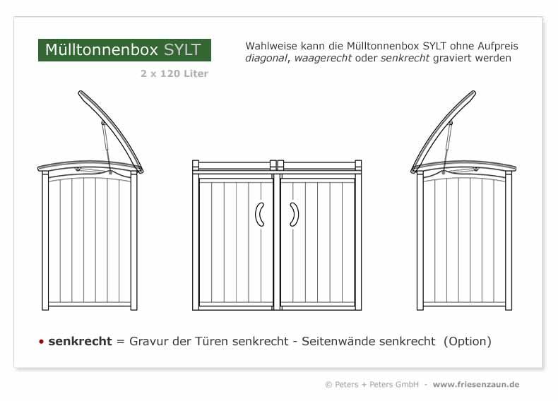 MUlltonnenbox Holz 120 Liter ~ Grüne Mülltonnenbox Sylt Holz Für 2 X 120 Liter Oder 2 X 240 Liter