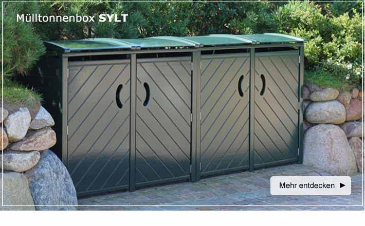 Exklusive Mulltonnenbox Mulltonnenboxen Holz Grun Oder Ral