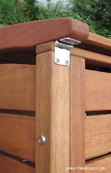 exklusive m lltonnenbox m lltonnenboxen holz gr n oder. Black Bedroom Furniture Sets. Home Design Ideas
