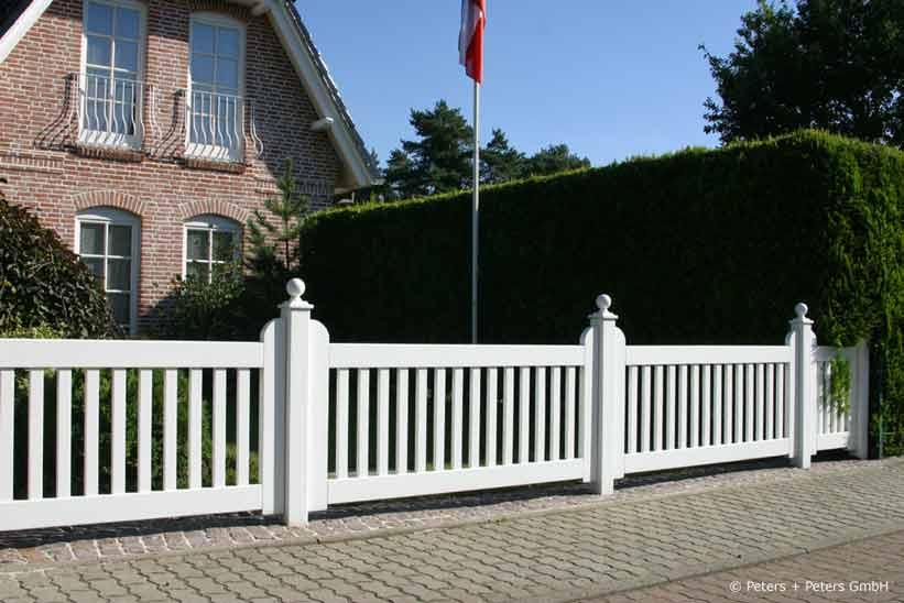 gartenzäune + friesenzäune, holz endlackiert weiß + ral -> 25, Garten und Bauten