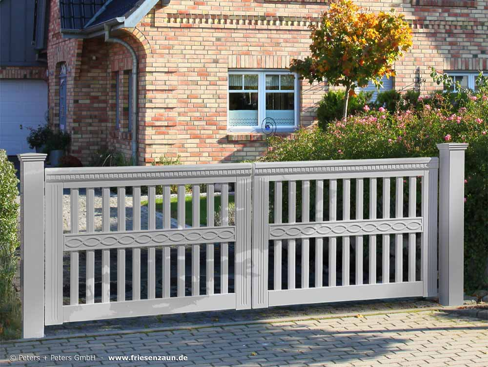 Wooden Driveway Gates, Garden Gate And Yard Gate Painted