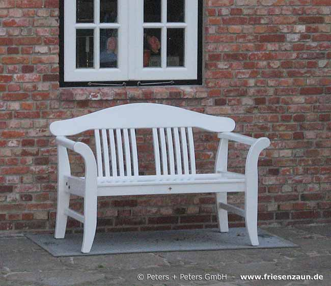 Wooden Garden Benches And Garden Furniture Painted White In A Traditional German Island Way